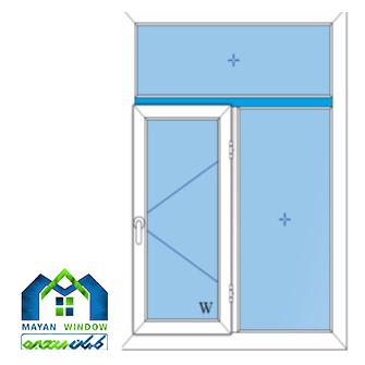 طراحی پنجره دو جداره UPVC